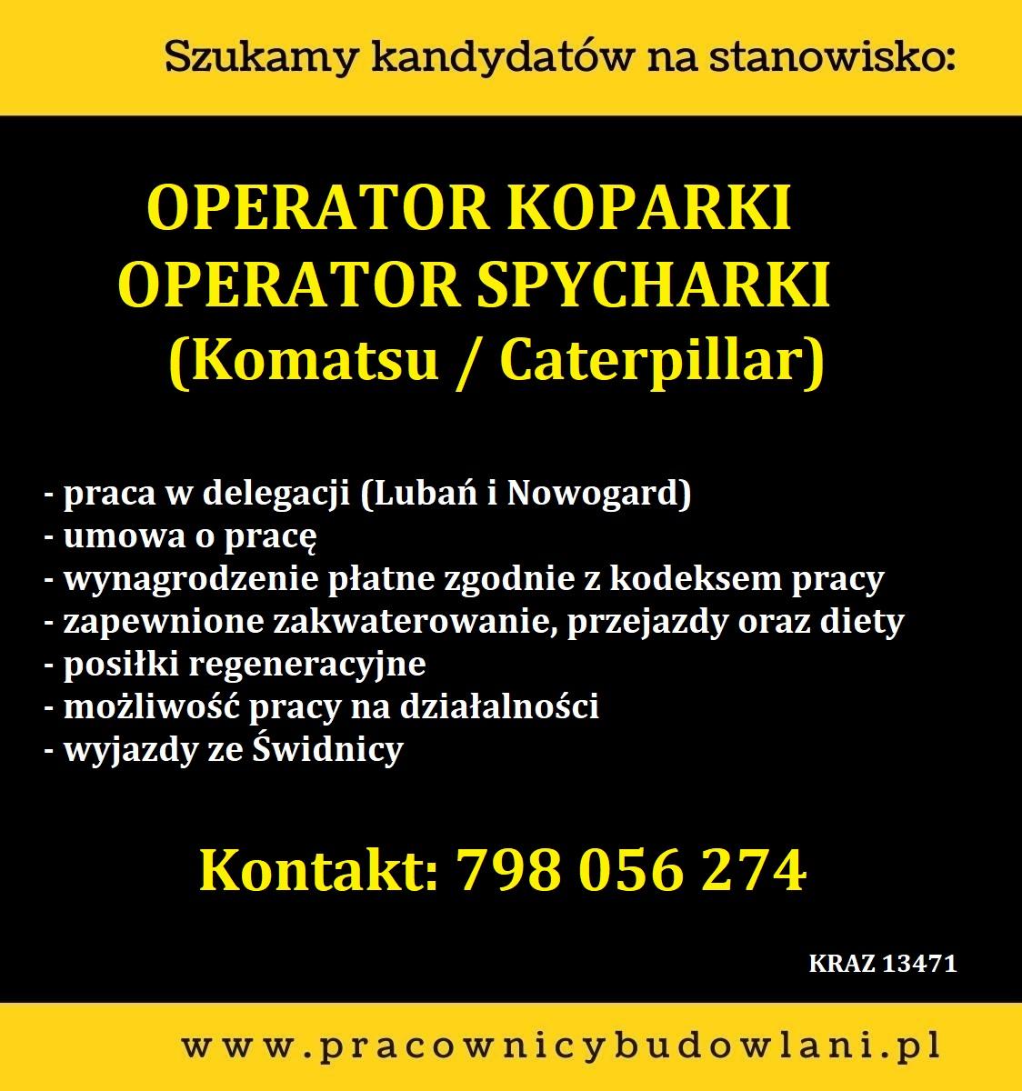 Operatorzy: Spycharka i Koparka