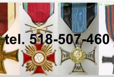 Kupię stare ordery, medale, odznaki, odznaczenia, orzełki