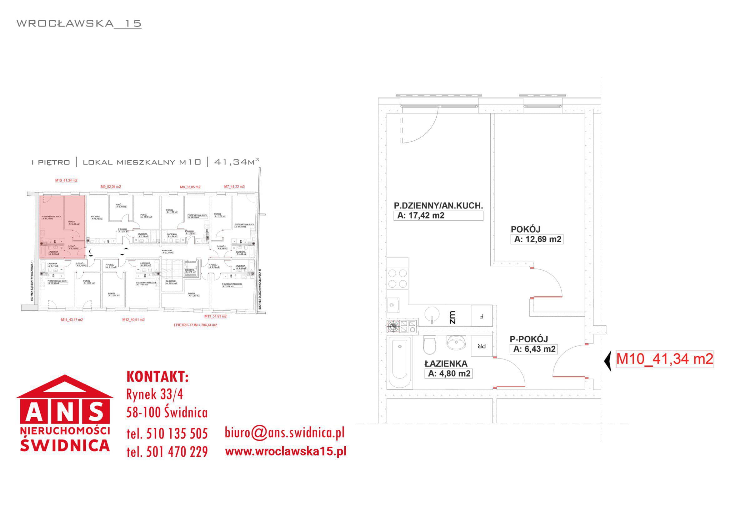 Wrocławska 15 nowe mieszkanie 41,34 m2