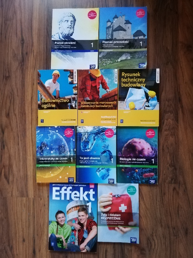 Podręczniki szkolne do 1 klasy technikum budowlanego